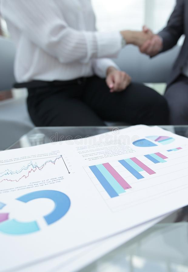 Marketing chart on the desktop. business background royalty free stock images