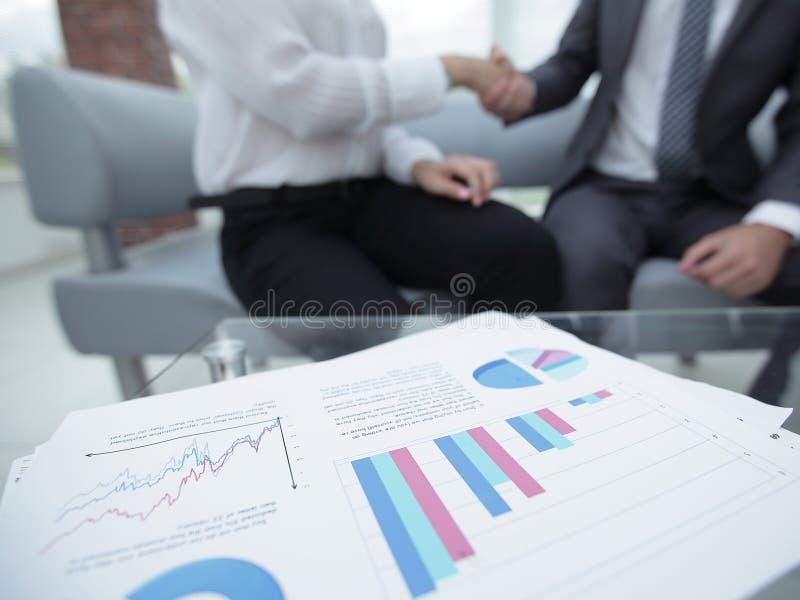 Marketing chart on the desktop. business background stock photo