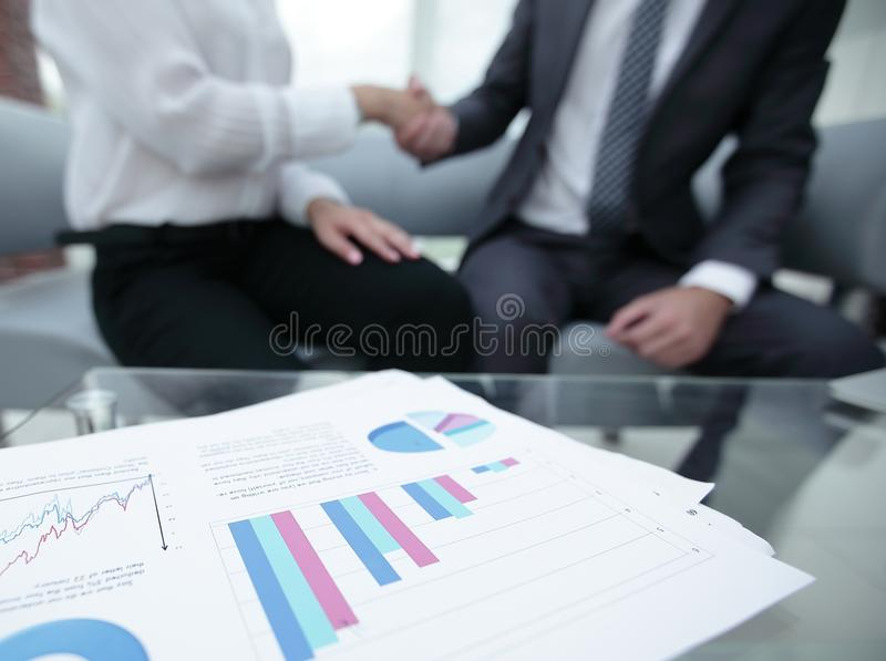 Marketing chart on the desktop. business background royalty free stock photography