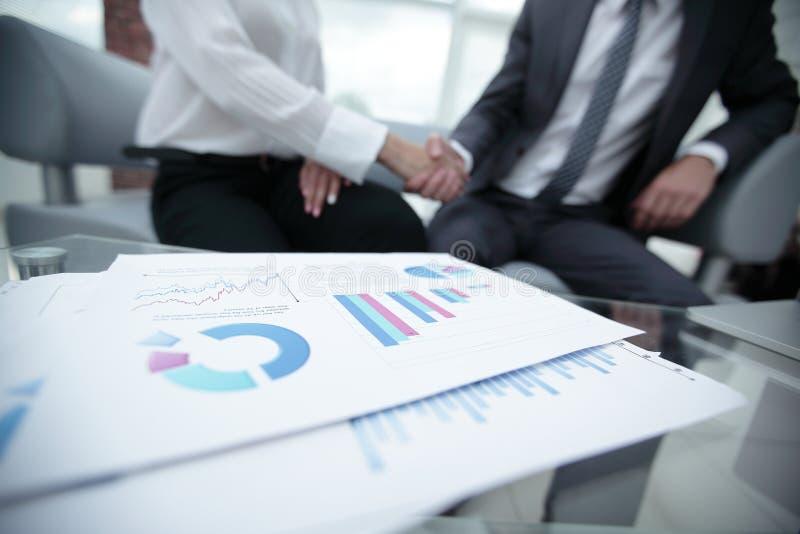 Marketing chart on the desktop. business background stock image