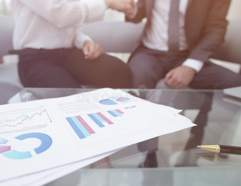Marketing chart on the desktop. business background stock images
