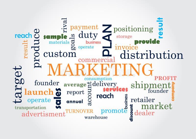 marketing Collage von Wörtern stock abbildung