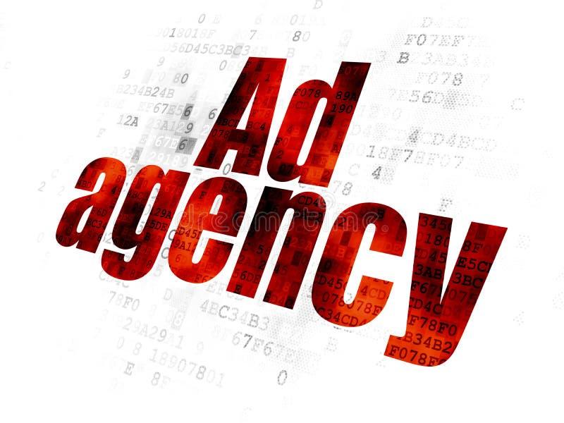 Marketing concept: Advertentieagentschap op Digitale achtergrond vector illustratie