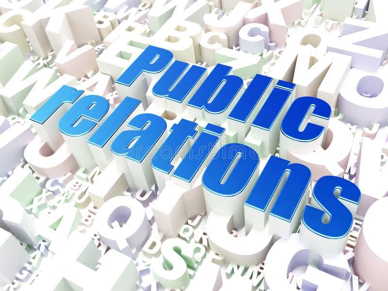 Marketing concept: Public Relations on alphabet royalty free illustration
