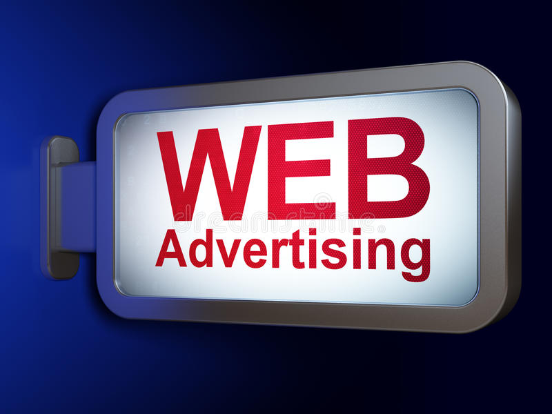Marketing concept: WEB Advertising on billboard background royalty free illustration