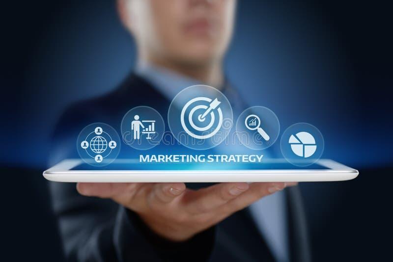Marketing de Bevorderingsconcept Strategie van het Bedrijfs Reclameplan royalty-vrije stock afbeelding