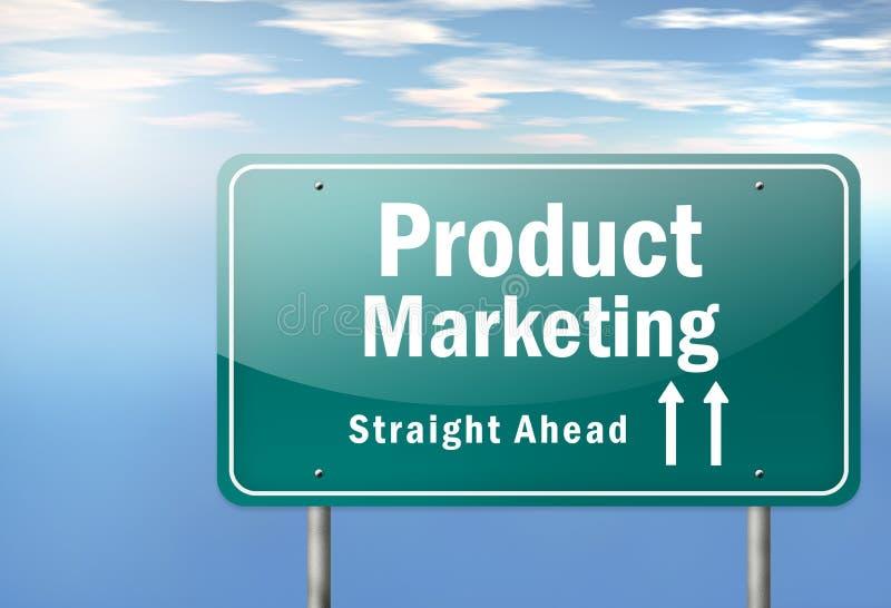 Marketing de producto del poste indicador de la carretera ilustración del vector