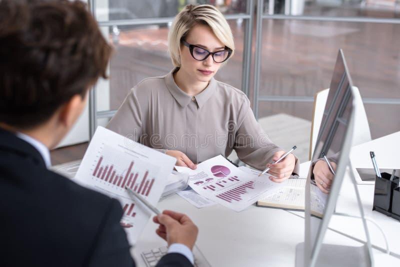 Marketing Director Analyzing Data royalty free stock photos