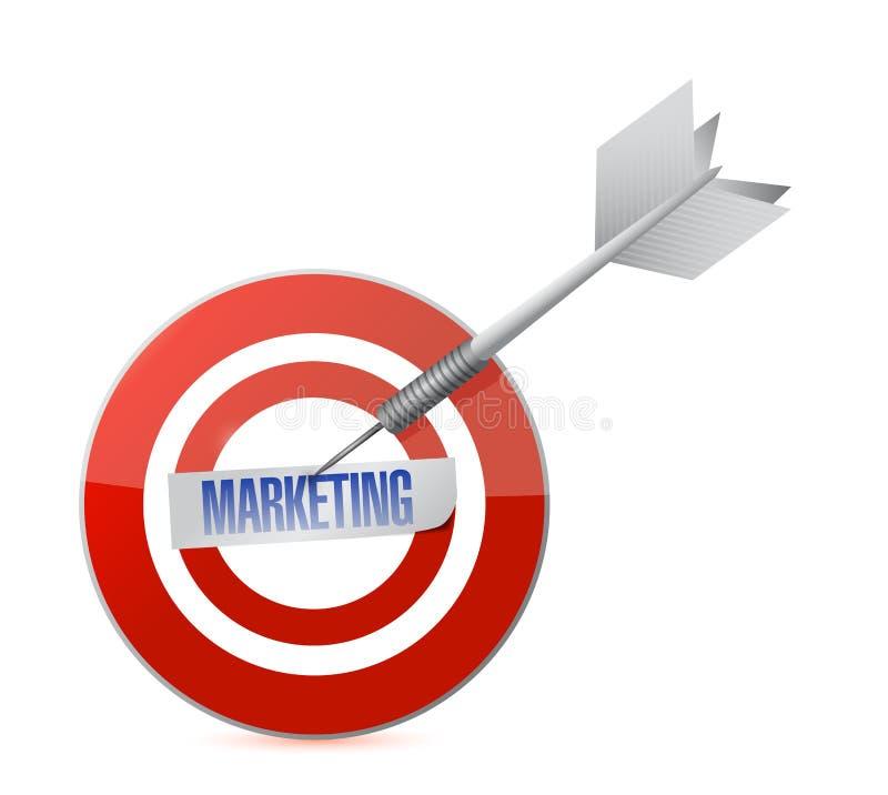 Marketing doel en het ontwerp van de pijltjeillustratie royalty-vrije illustratie