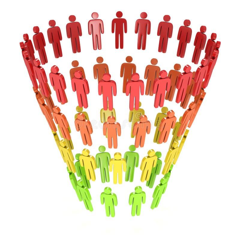 Marketing Funnel Sales royalty free illustration