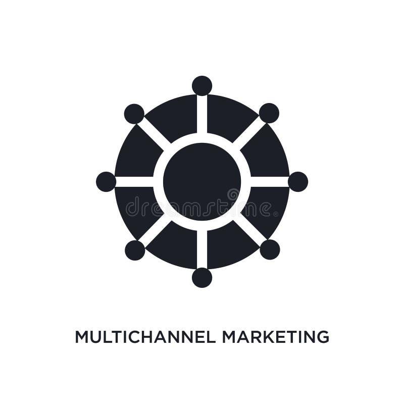 marketing geïsoleerd pictogram met meerdere kanalen eenvoudige elementenillustratie van de pictogrammen van het technologieconcep stock illustratie