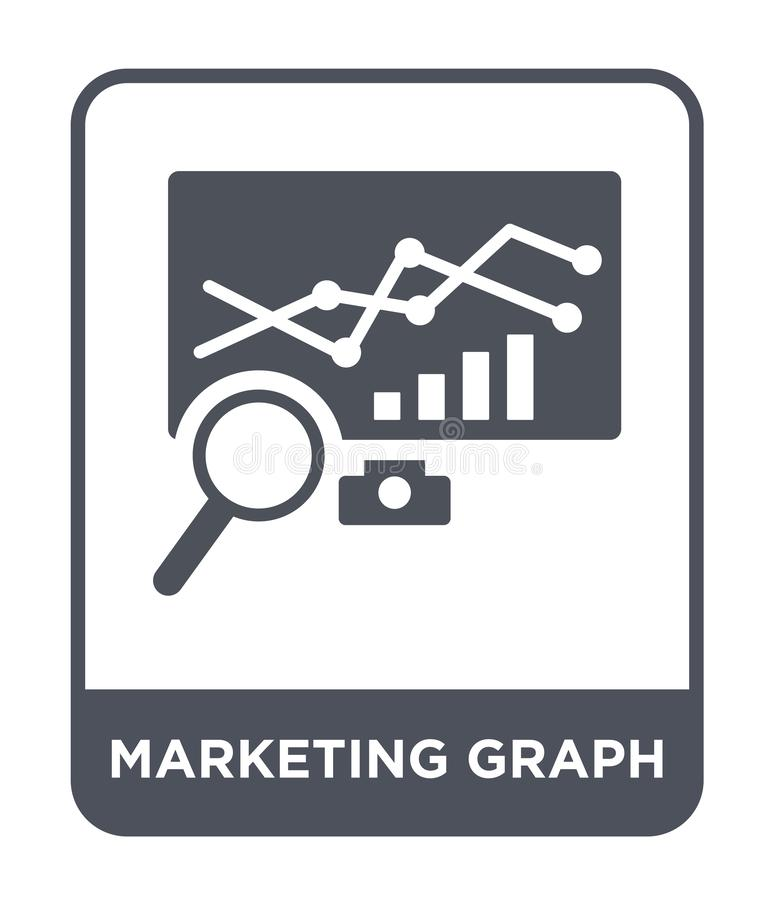 marketing graph icon in trendy design style. marketing graph icon isolated on white background. marketing graph vector icon simple royalty free illustration