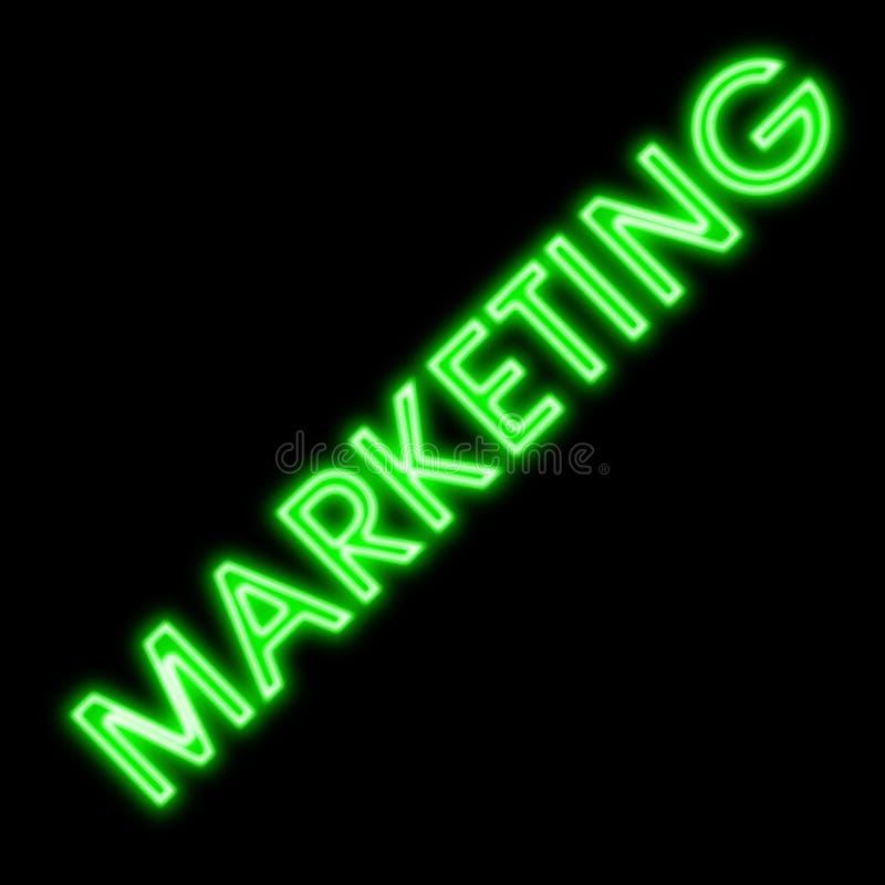 Marketing business signpost green neon sign retro royalty free stock photos