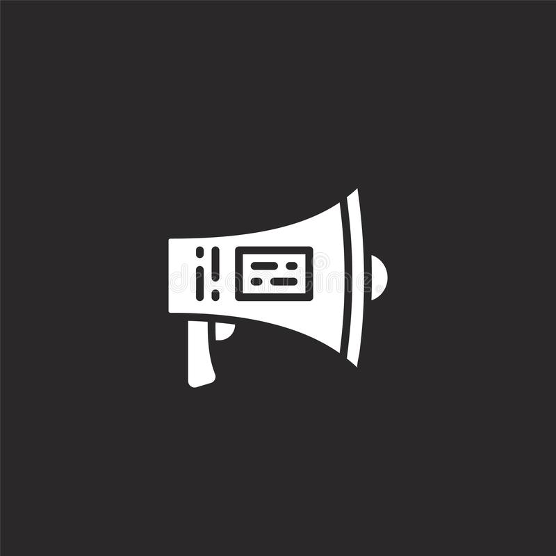 Marketing icon. Filled marketing icon for website design and mobile, app development. marketing icon from filled crypto and. Currency collection isolated on vector illustration