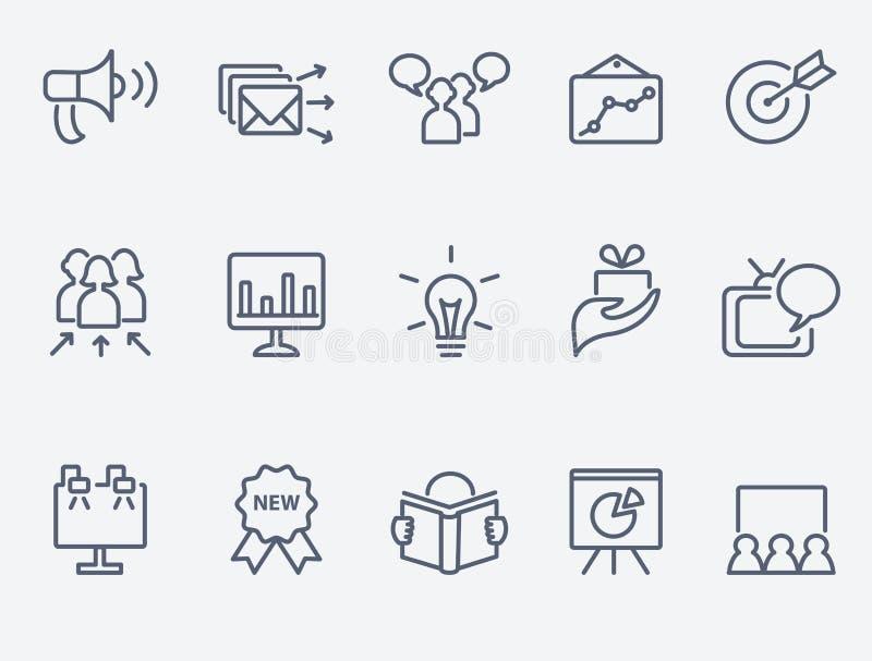 Marketing icon set. Set of 15 marketing icons