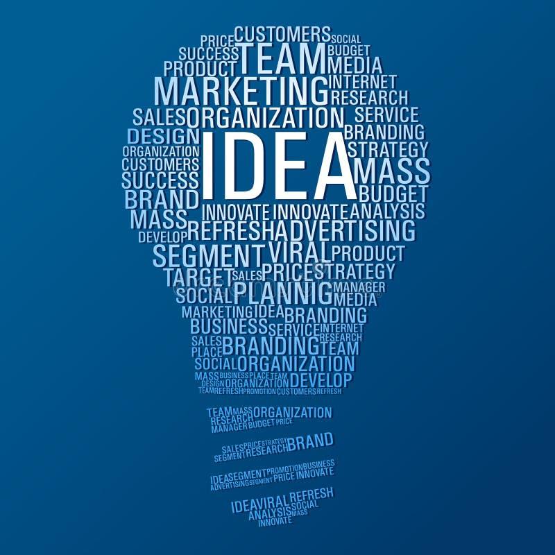 Marketing idea communication royalty free illustration