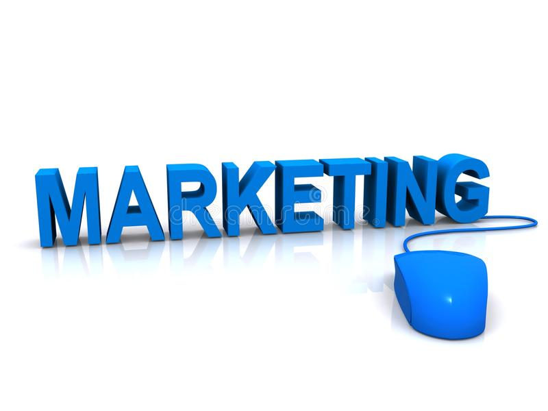 Marketing-Konzept stock abbildung