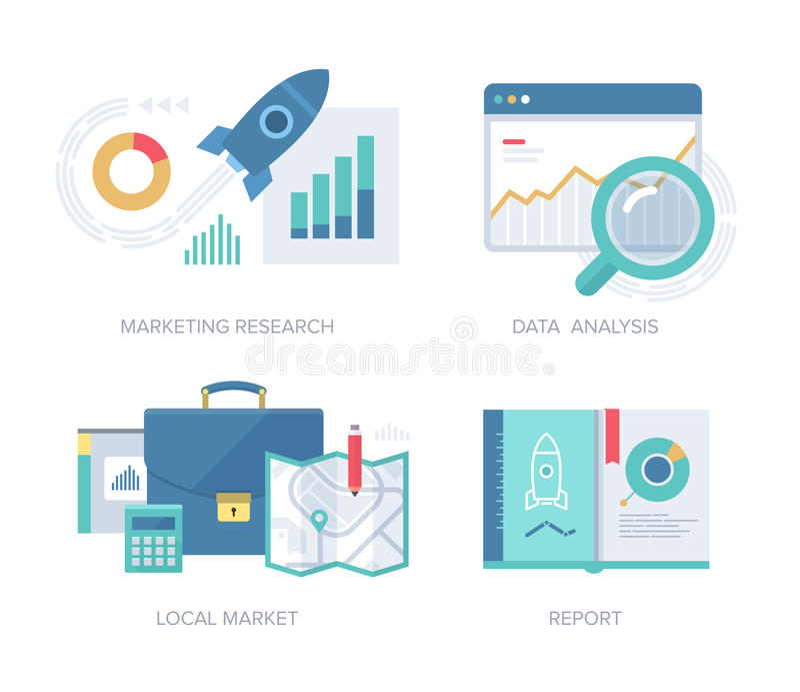 Marketing-Konzept-Sammlung stock abbildung