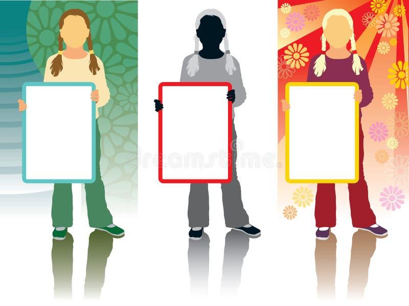 Marketing-Mädchen vektor abbildung