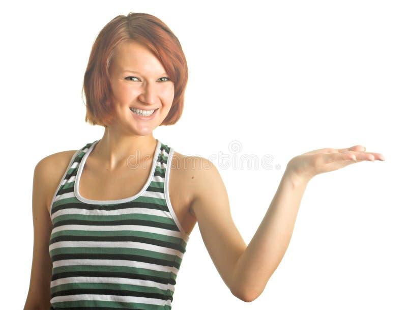 Marketing-Mädchen stockfoto