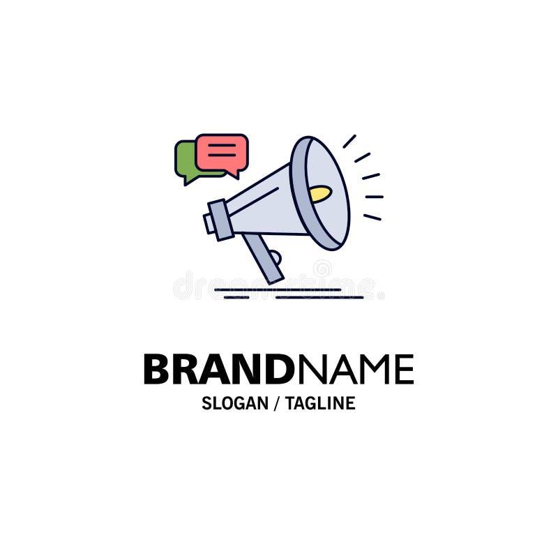 marketing, megafoon, aankondiging, promo, het Pictogramvector van de bevorderings Vlakke Kleur royalty-vrije illustratie