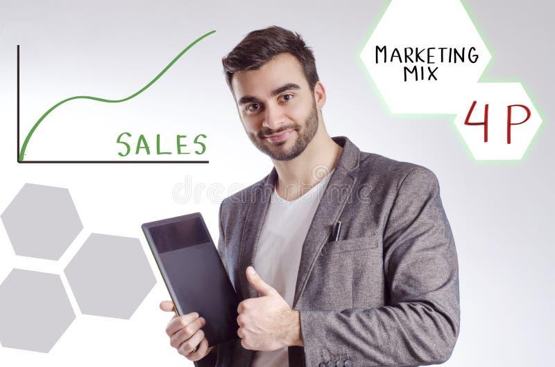 Marketing mengeling, 4p concept royalty-vrije stock foto's