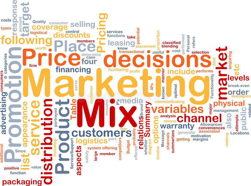 Download Marketing Mix Background Concept Stock Images - Image: 12670854