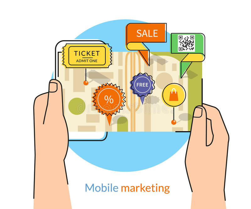 Marketing Mobile illustration de vecteur