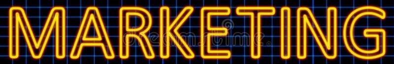 Marketing neon sign stock illustration