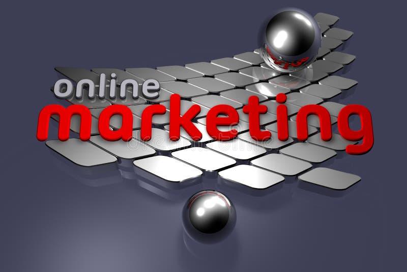 marketing online vektor illustrationer