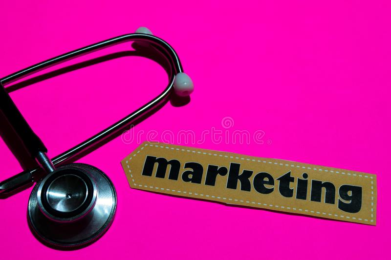 Marketing on the paper with medicare Concept royalty free stock photo
