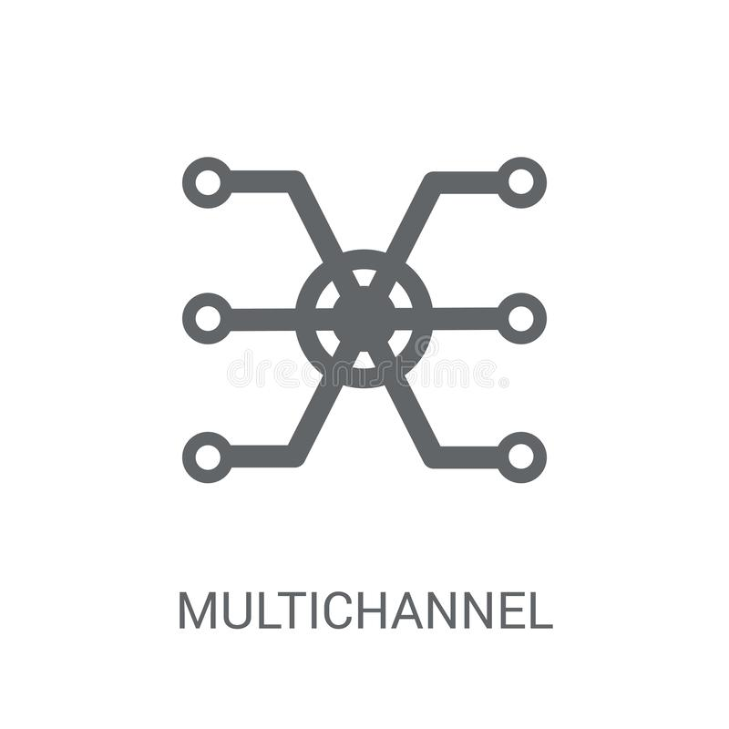 Marketing pictogram met meerdere kanalen  royalty-vrije illustratie