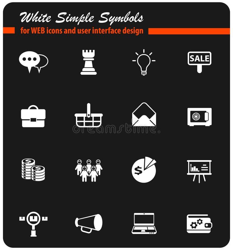 Marketing pictogramreeks royalty-vrije illustratie