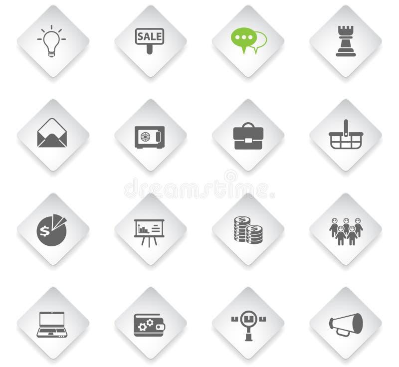 Marketing pictogramreeks stock illustratie