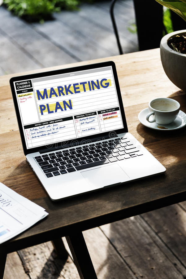 Marketing Plan Business Investment Success Word royalty free stock image