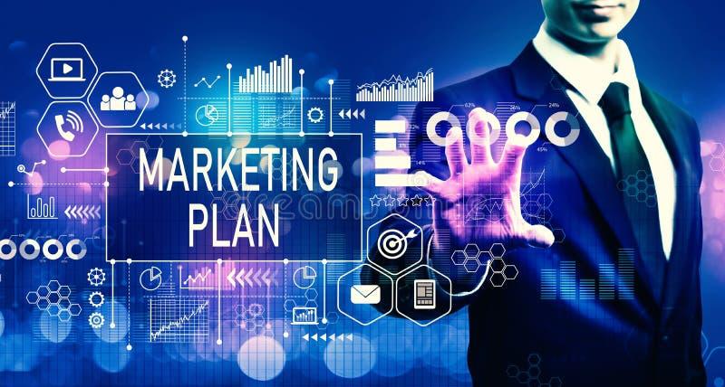 Marketing plan with businessman stock photo