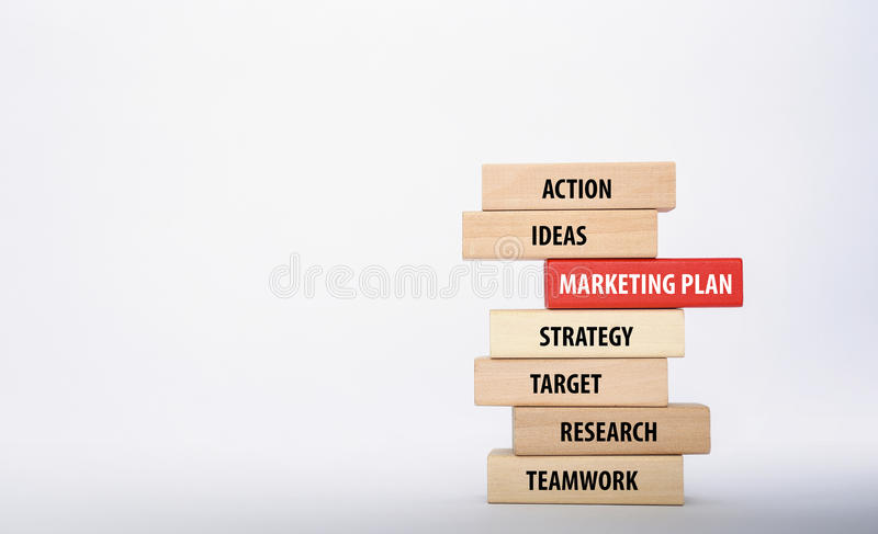 MARKETING PLAN concept stock image