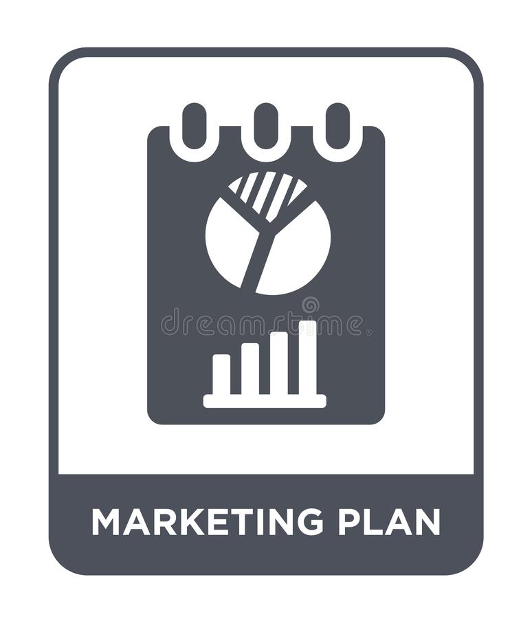 marketing plan icon in trendy design style. marketing plan icon isolated on white background. marketing plan vector icon simple vector illustration