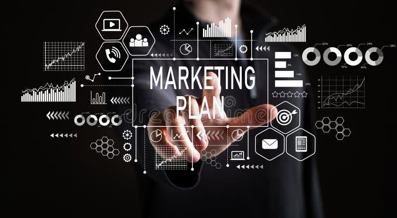 Marketing Plan met zakenman royalty-vrije stock afbeeldingen