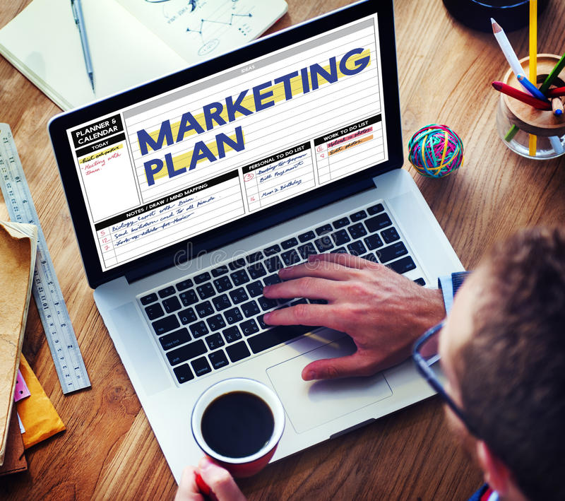 Marketing Plan Strategy Tactics Guidelines Concept.  stock photos