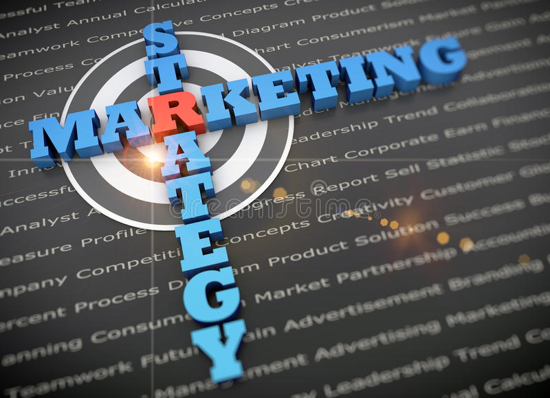 Marketing plan success. Concept of strategic marketing planning success royalty free stock image