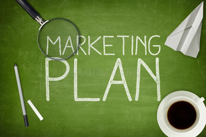 Marketing Planconcept stock foto