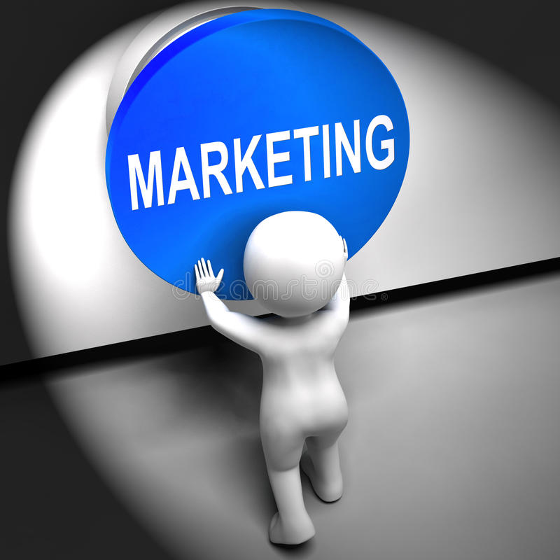Marketing Pressed Means Brand Promotions And Advertising royalty free illustration