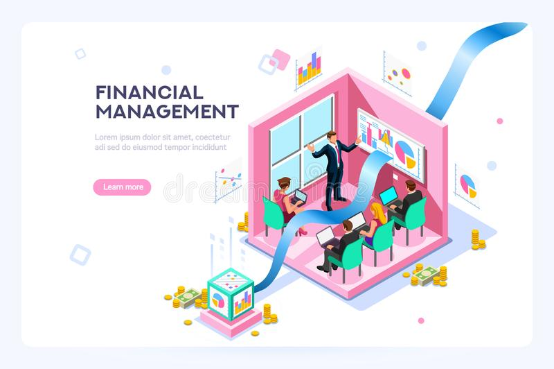 Marketing Przyszłościowy Wirtualny finanse royalty ilustracja