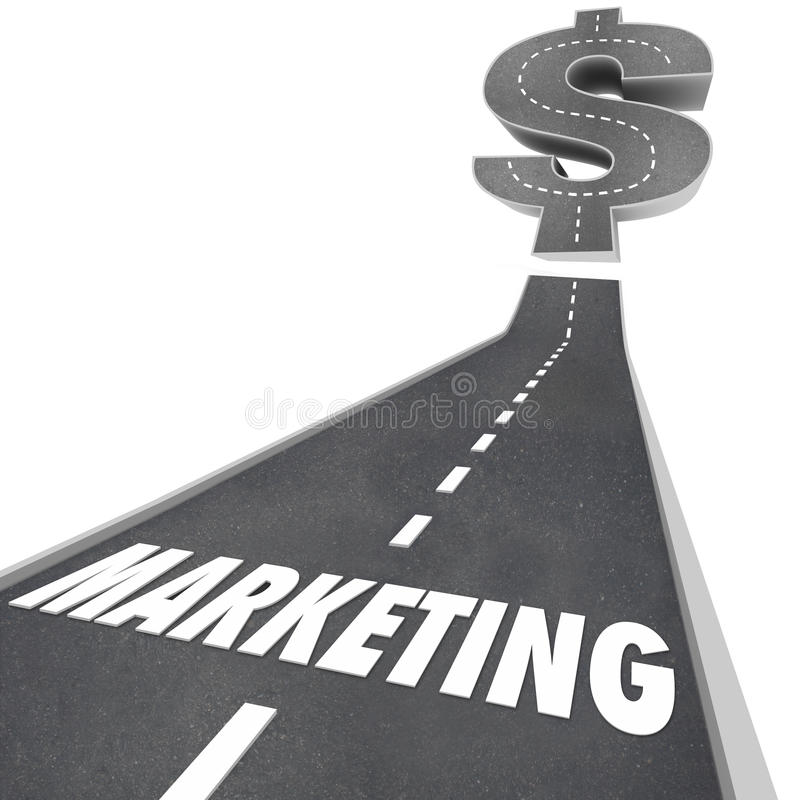 Marketing Road Up to Increased Growth Earnings Business Expansio royalty free illustration