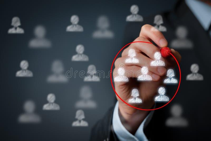 Marketing segmentatie royalty-vrije stock afbeeldingen
