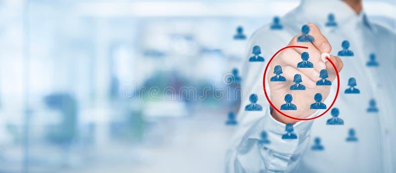 Marketing segmentatie royalty-vrije stock fotografie