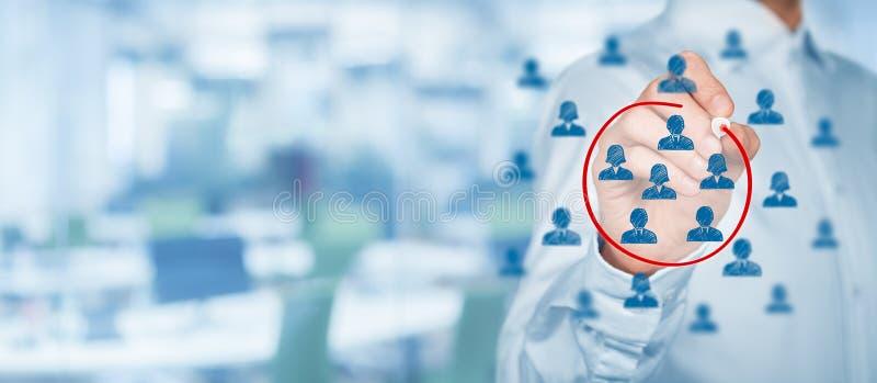 Marketing segmentatie royalty-vrije stock afbeelding