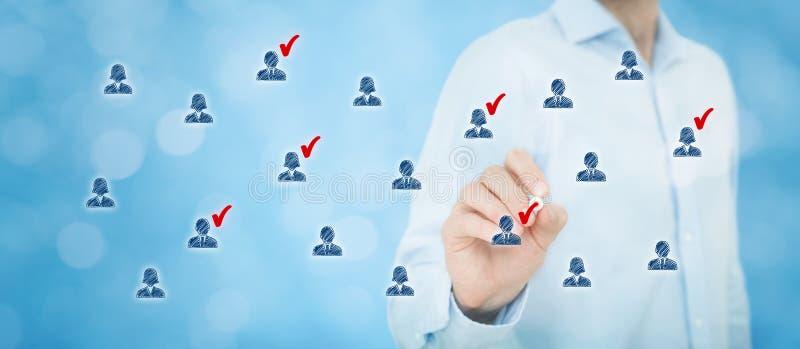 Marketing segmentatie stock afbeeldingen