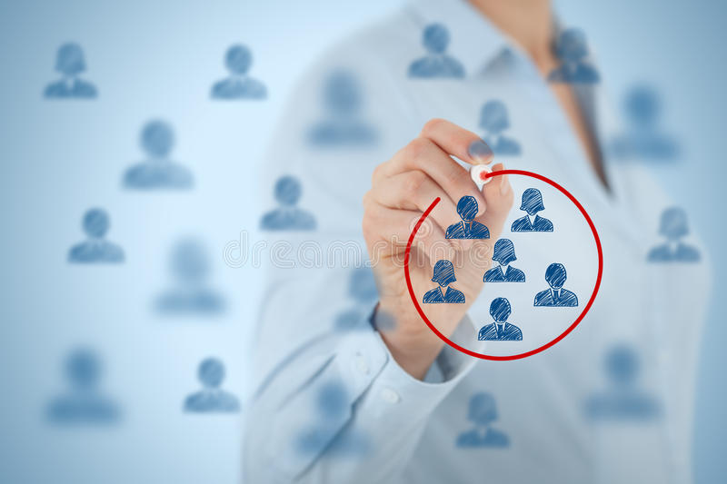 Marketing segmentation stock images